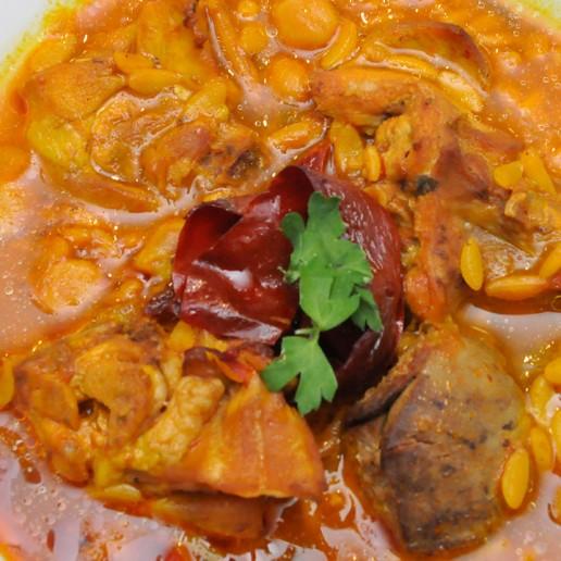 Gastronomía de Roquetas de Mar Gurullos con Conejo