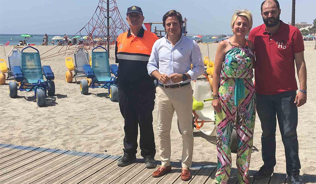 Las playas roqueteras incrementan las infraestructuras y servicios para personas con movilidad reducida