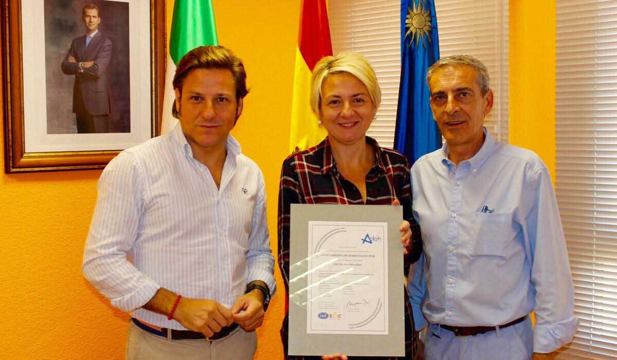 Roquetas de Mar renueva el certificado que valora la calidad en la gestión integral de sus playas
