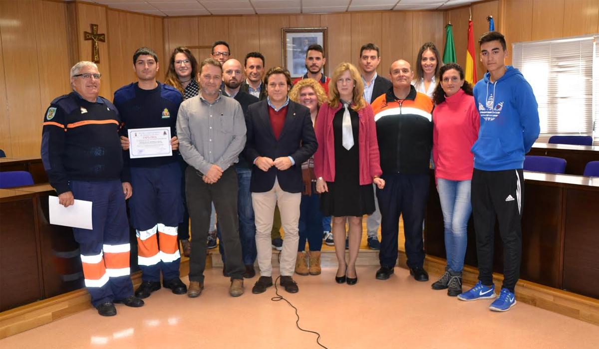 Entrega de diplomas a los 63 miembros del equipo de salvamento y seguridad en las playas