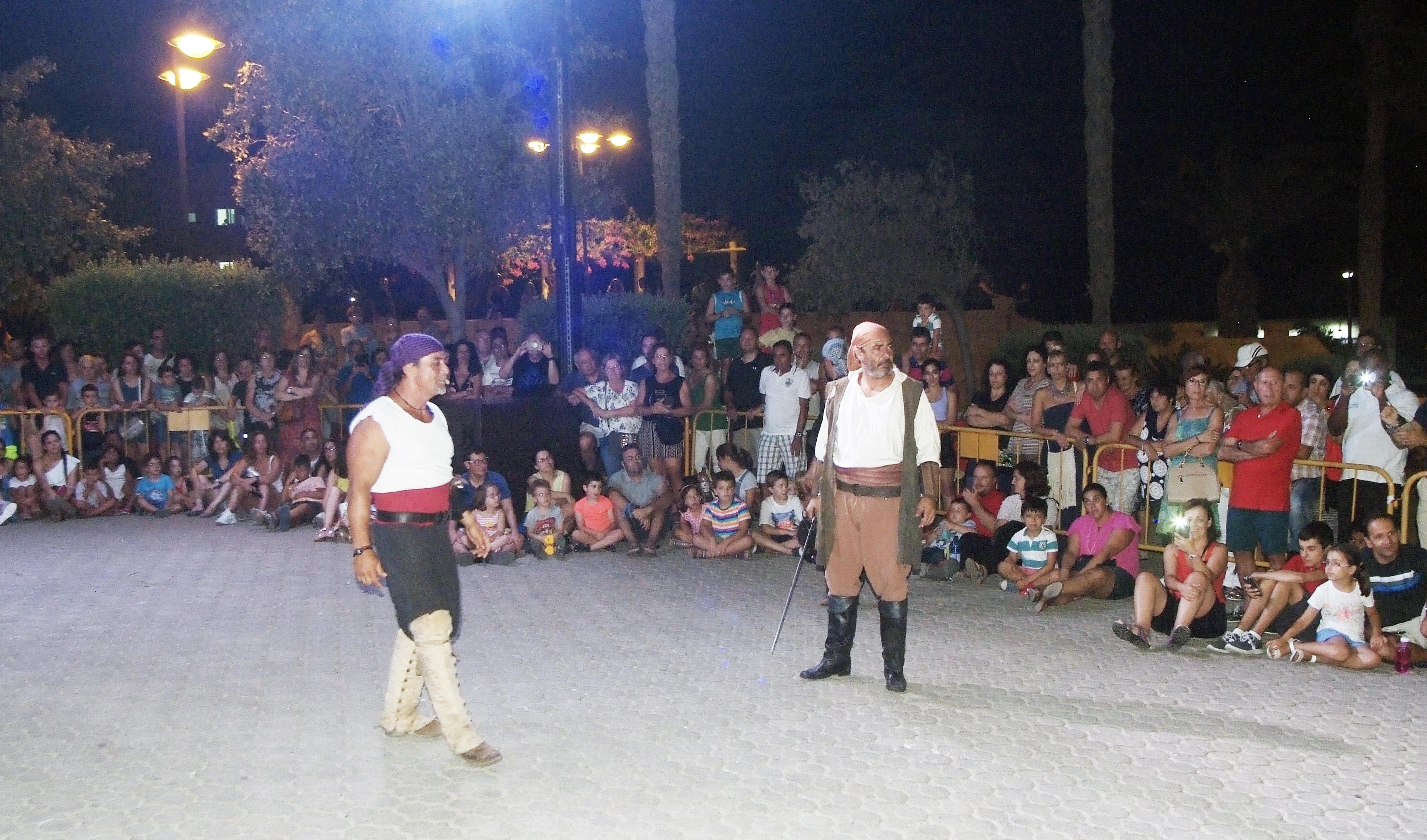 Los piratas toman el Castillo de Santa Ana de Roquetas