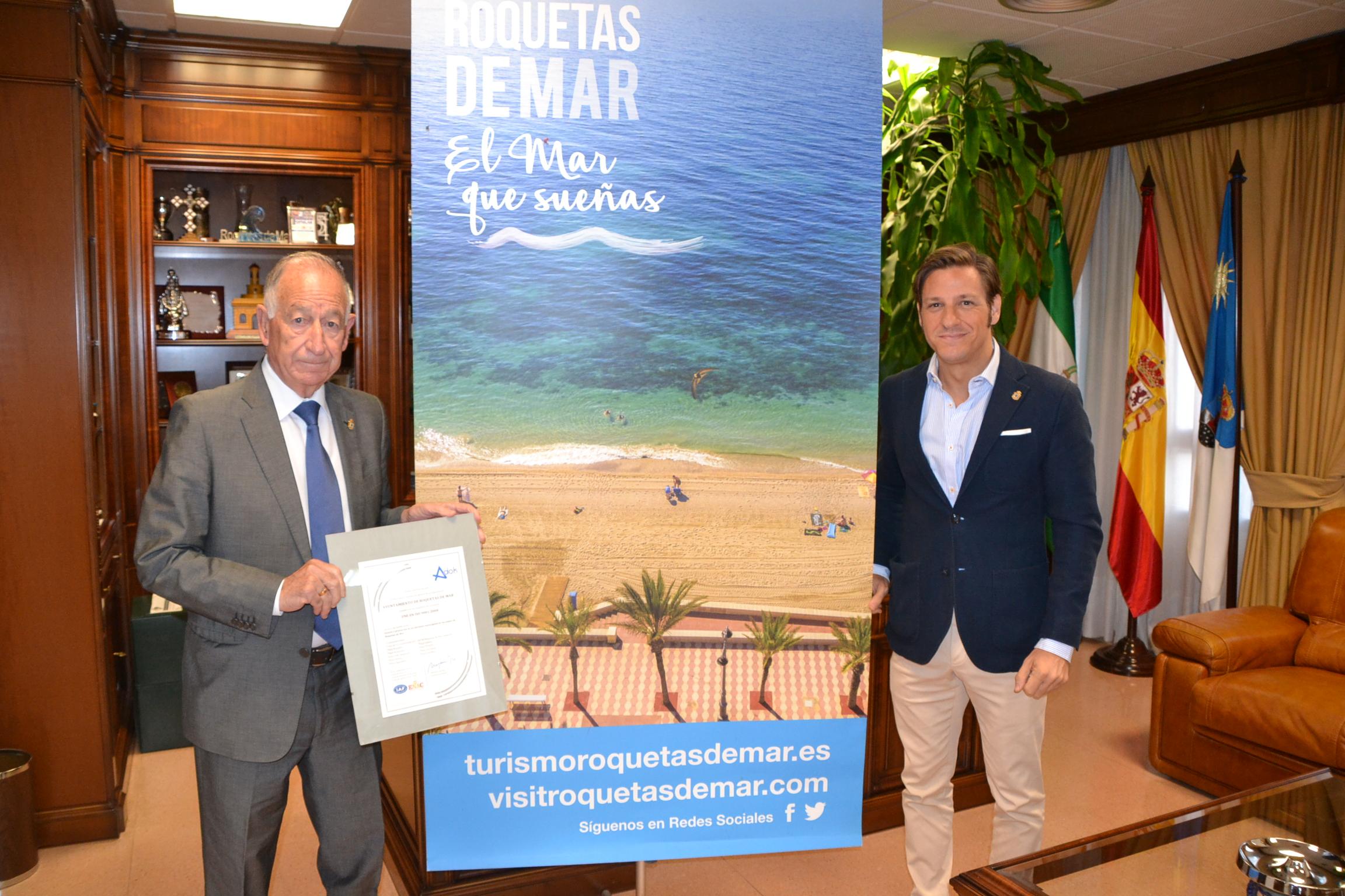 Las nueve playas roqueteras renuevan el certificado ISO 9001