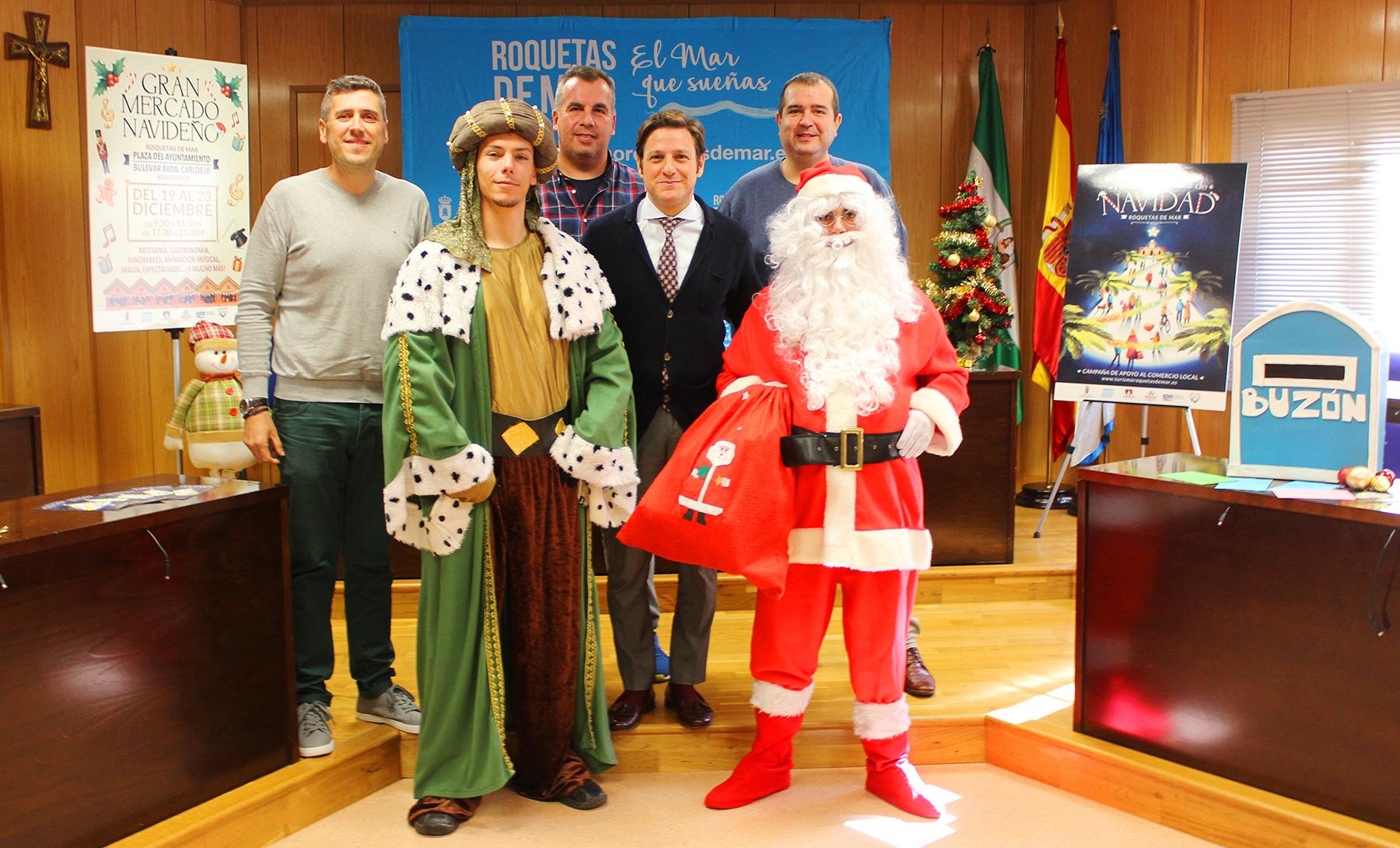 Cuarenta actividades en 25 escenarios llenarán las calles de Roquetas de Mar de Navidad