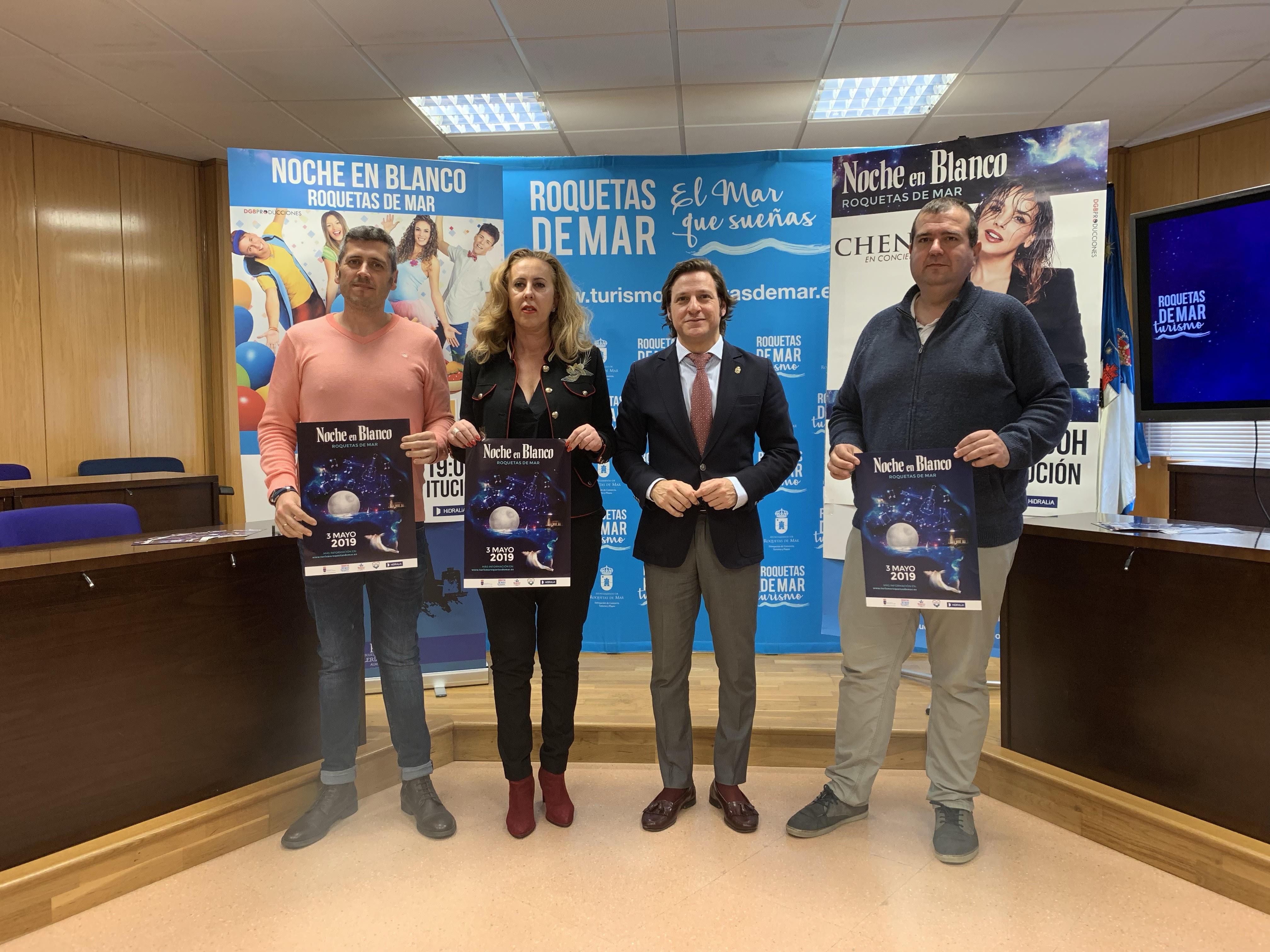 """Roquetas de Mar celebrará la IV edición de la """"Noche en Blanco"""" con actividades y espectáculos para todos"""