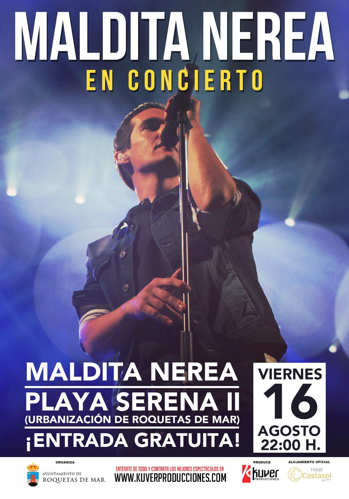 Maldita Nerea cierra el ciclo de conciertos gratuitos de gran formato de A Pie de Calle, mañana en Playa Serena II